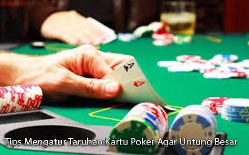 Tips Mengatur Taruhan Kartu Poker Agar Untung Besar